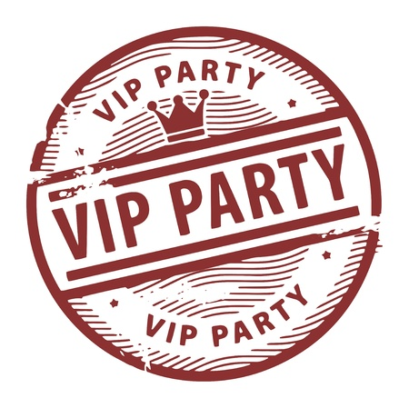 Grunge rubber stamp with the text Vip Party written inside the stamp Stock Vector - 17457426