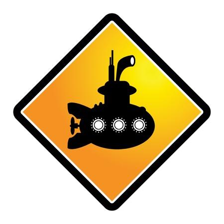 Submarine sign Stock Vector - 17590335