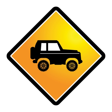 off road: Off-road vehicle sign
