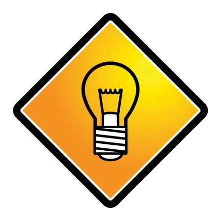 Light bulb sign Stock Vector - 17590323
