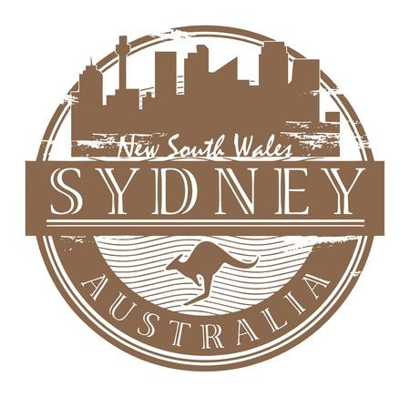 postmark: Grunge Stempel mit dem Namen Sydney, Australien innerhalb der Stempel geschrieben