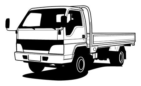 ton: Teslim hafif kamyon el beraberlik illüstrasyon