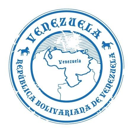 mapa de venezuela: Grunge sello de goma con el nombre y el mapa de Venezuela