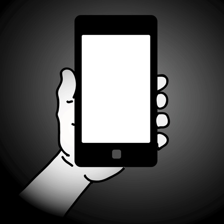 Mobile phone in hand Stock Vector - 17698790