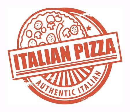 Grunge rubber stamp, with the text Italian Pizza written inside Vector