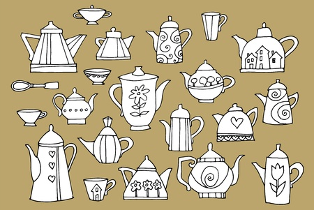 chinese teapot: Set of a teapots