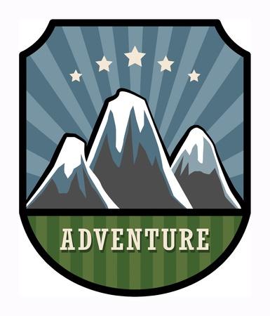 Mountain adventure sign Stock Vector - 17843762