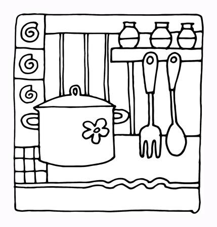 main idea: Hand drawn restaurant menu design Illustration