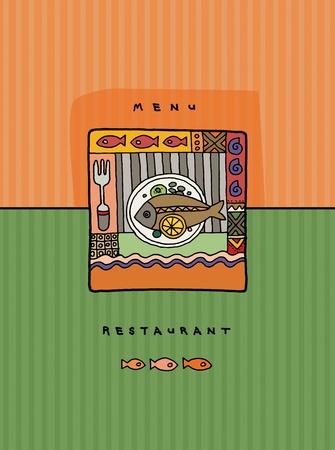 Hand drawn restaurant menu design Stock Vector - 17843818
