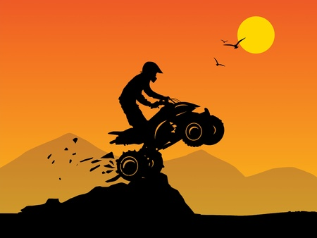 offroad car: Off-road jump background