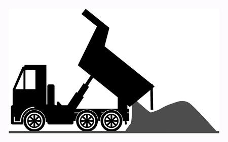 ダンプ: ダンプ トラック  イラスト・ベクター素材