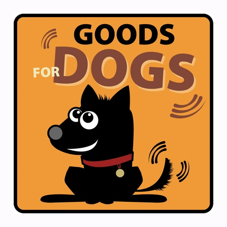 Goods for dogs label Vector
