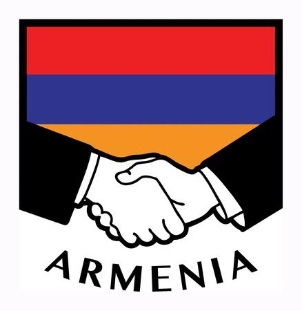 Armenia flag and business handshake Stock Vector - 17843822