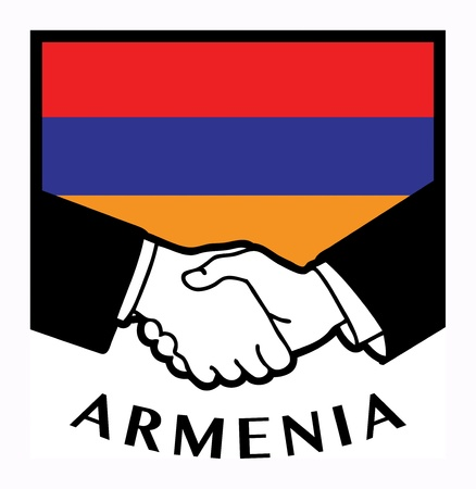 Armenia flag and business handshake Stock Vector - 17843822