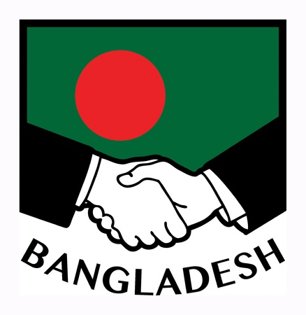 syndicate: Bangladesh flag and business handshake Illustration