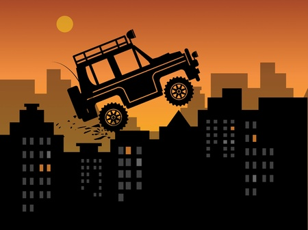 Off-road in urban jungle Stock Vector - 17843839
