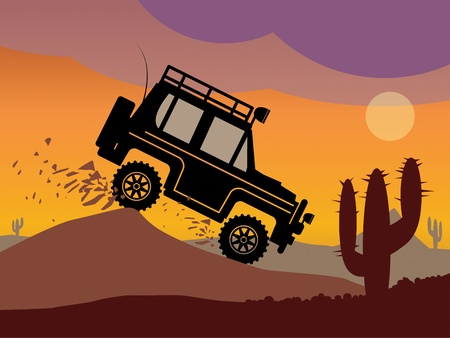 cactus desert: Off-road vehicle