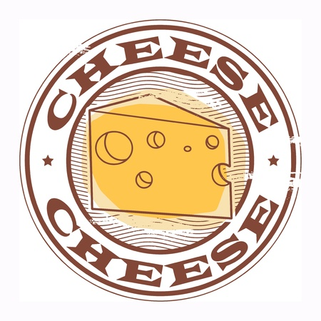 parmesan: Grunge rubber stamp with the text Cheese written inside