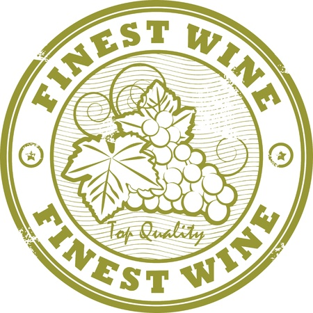 Grunge rubber stamp with words Fines Wine Vector