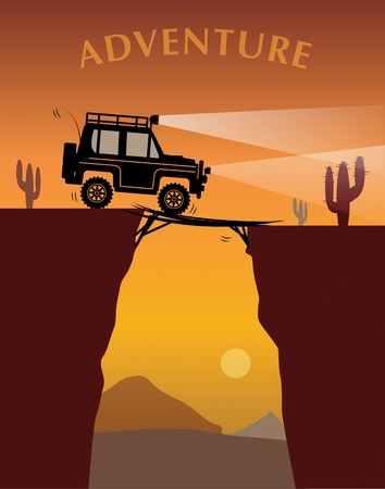 Off-road adventure Vector