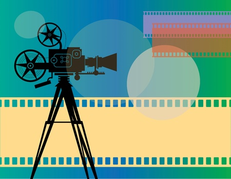 camara de cine: Fondo abstracto de cine Vectores