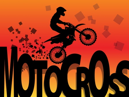 x games: Motocross racing background Illustration