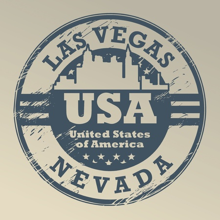 usa stamp: Grunge rubber stamp with name of Nevada, Las Vegas