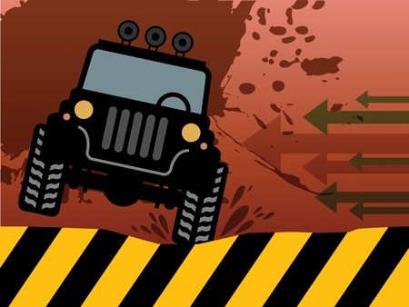 Off-road vehicle abstract Vector