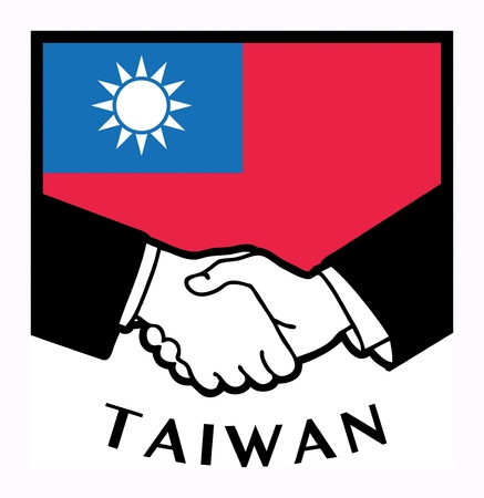 syndicate: Taiwan flag and business handshake