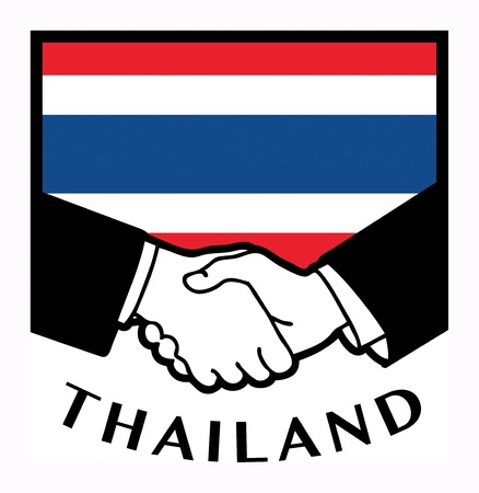 syndicate: Thailand flag and business handshake