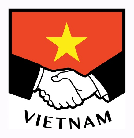 syndicate: Vietnam flag and business handshake