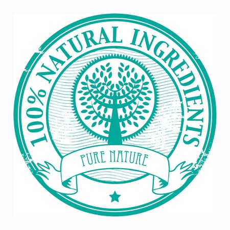 Grunge rubber stamp with the word Natural Ingredients inside Stock Vector - 18088504