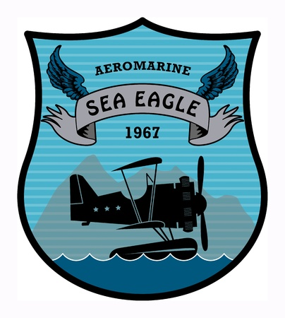 sea mark: Label with the words Aeromarine, Sea Eagle written inside