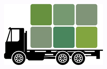 hauling: Cargo truck sign