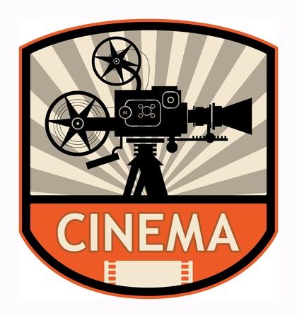 producer: Cinema label, vector illustration