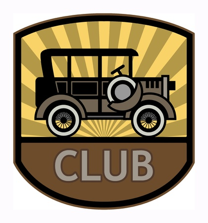 Retro Club label Vector