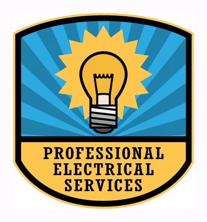 electricista: Etiqueta de Servicios Profesionales El�ctricos