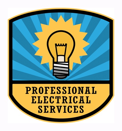 Professional Electrical Services label Vector