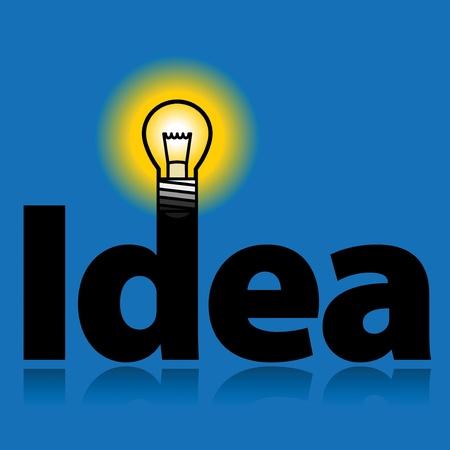 Light bulb - idea Stock Vector - 18136463