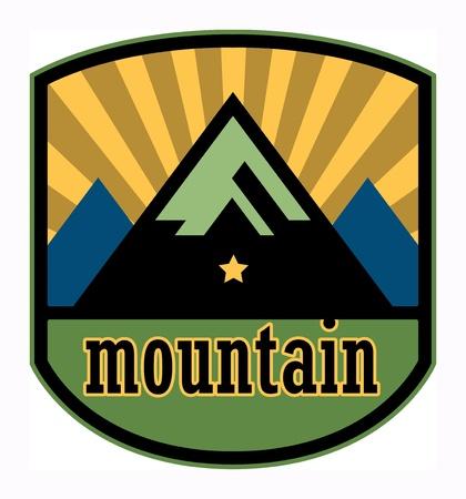 Mountain label Stock Vector - 18136457