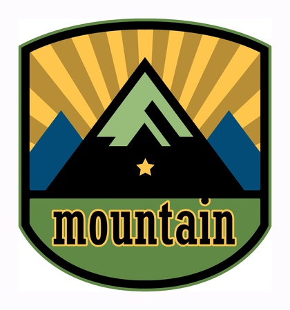 Mountain label Stock Vector - 18136457