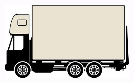 Cargo truck sign Stock Vector - 18136465