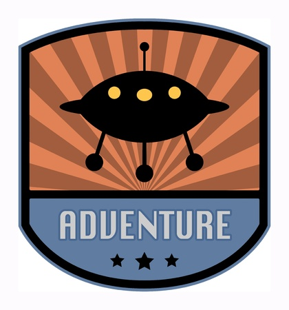 Adventure label Stock Vector - 18136454