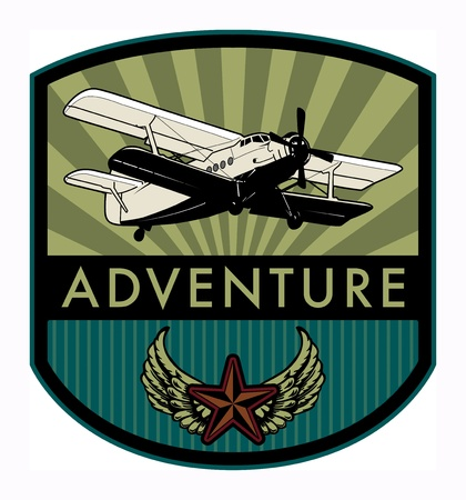 Adventure label Vector