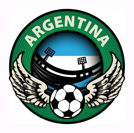 Label with football and name Argentina Stock Vector - 18246163