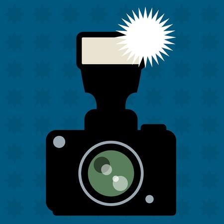 camera flash: Camera and flash abstract