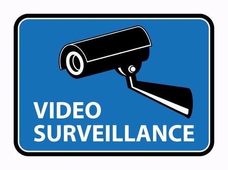 monitored area: Video surveillance sign
