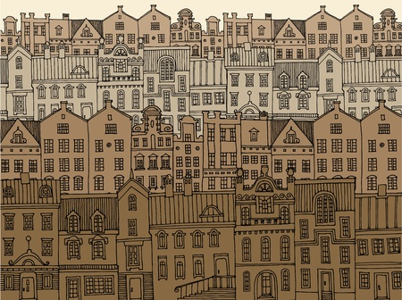 capital cities: Hand drawing city
