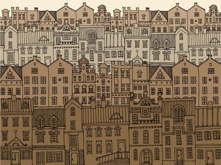 Hand tekening stad Vector Illustratie