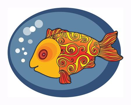 Cute Gold Fish Stock Vector - 18346132